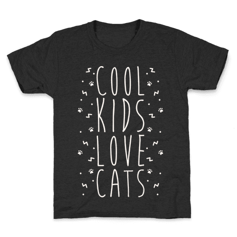 Cool Kids Love Cats Kids T-Shirt
