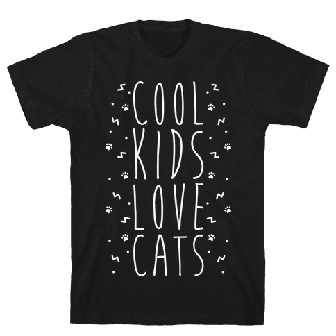 Cool Kids Love Cats Mens T-Shirt