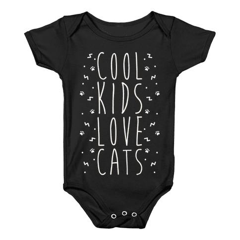 Cool Kids Love Cats Baby Onesy