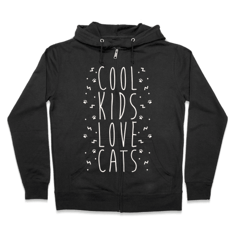 Cool Kids Love Cats Zip Hoodie