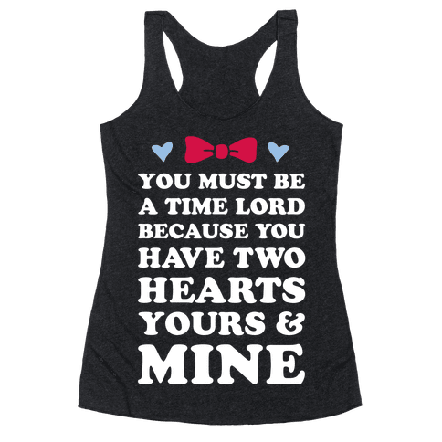 Time Lord Love Racerback Tank Top