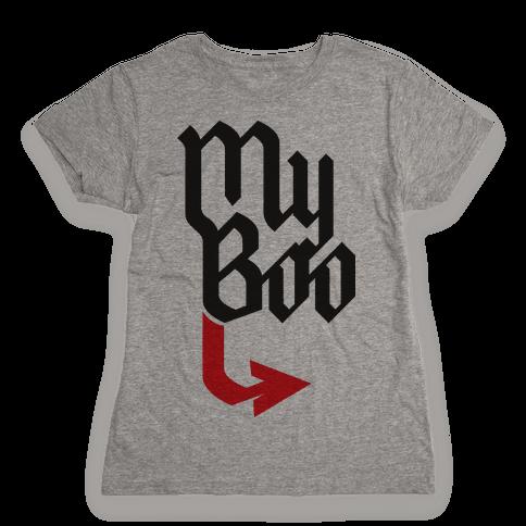 My Boo (red half) Womens T-Shirt