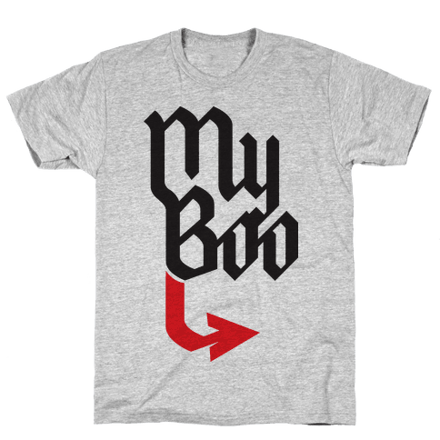 My Boo (red half) Mens T-Shirt
