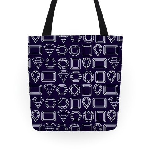 Jewel Outline Pattern Tote