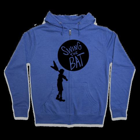 Swing The Bat Zip Hoodie
