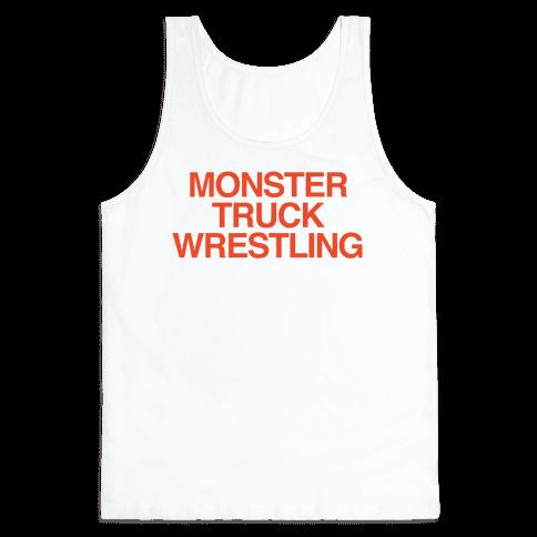Monster Truck Wrestling Tank Top