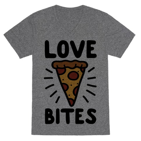 Love Bites Pizza V-Neck Tee Shirt