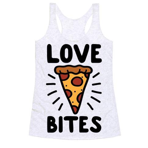 Love Bites Pizza Racerback Tank Top