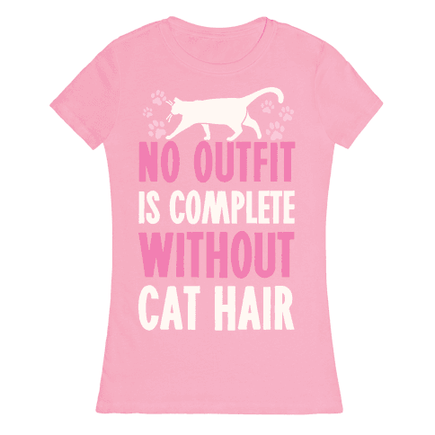 No Outfit Is Complete Without Cat Hair Womens T-Shirt