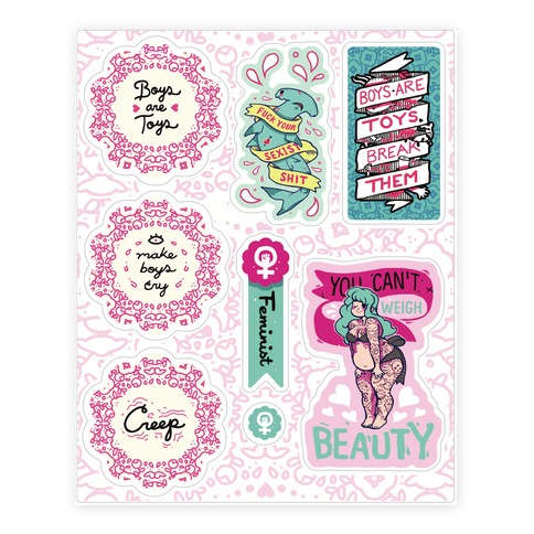 Sassy Funny Feminism Sticker/Decal Sheet