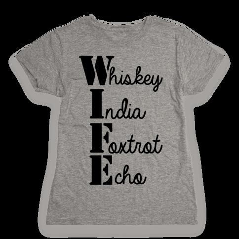 Military Wife Lingo Womens T-Shirt
