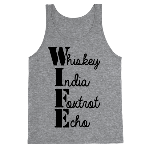 Military Wife Lingo Tank Top