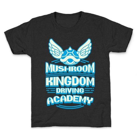 Mushroom Kingdom Driving Academy Kids T-Shirt