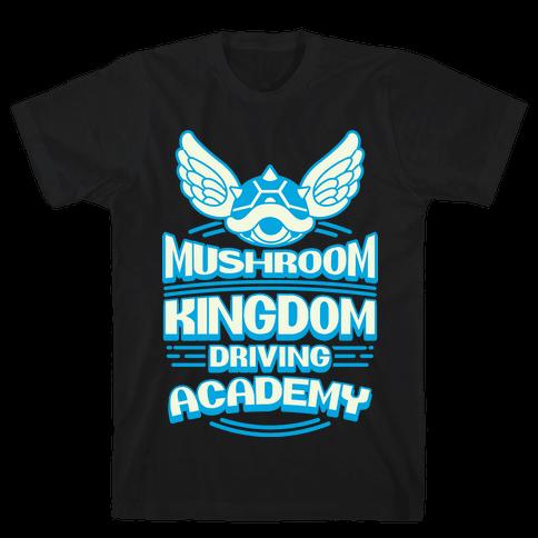 Mushroom Kingdom Driving Academy Mens T-Shirt