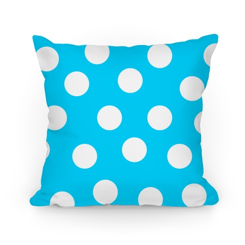Blue Polka Dot Pillow Pillow