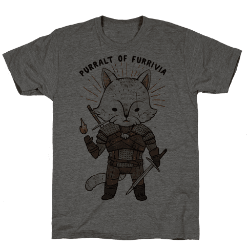 The Whisker Purralt Of Furrivia Cat Parody Mens T-Shirt