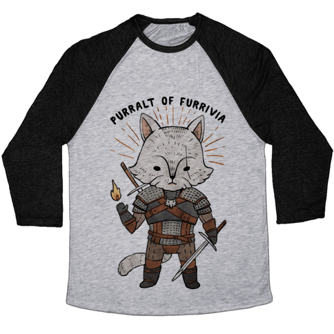 The Whisker Purralt Of Furrivia Cat Parody Baseball Tee