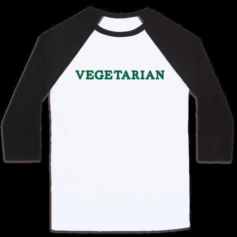 Vegetarian Baseball Tee