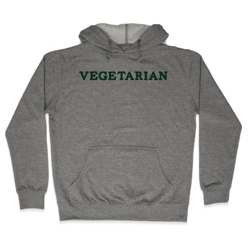 Vegetarian Hooded Sweatshirt