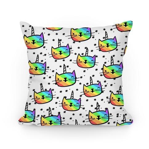 Caticorn Pattern Pillow Pillow