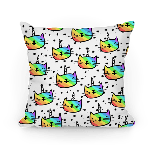 Caticorn Pattern Pillow Pillow