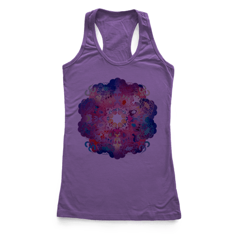 Colorful Yoga Tee Racerback Tank Top
