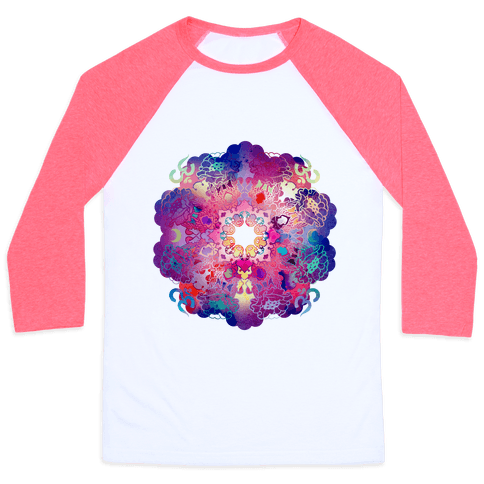 Colorful Yoga Tee Baseball Tee