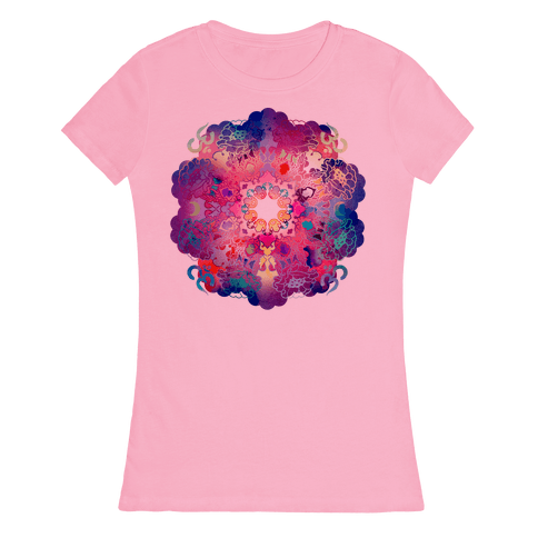 Colorful Yoga Tee Womens T-Shirt