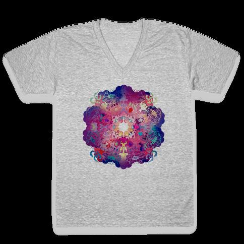 Colorful Yoga Tee V-Neck Tee Shirt