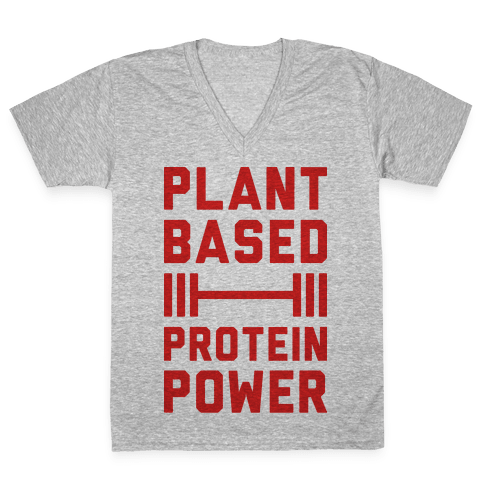 Plant Based Protein Power V-Neck Tee Shirt