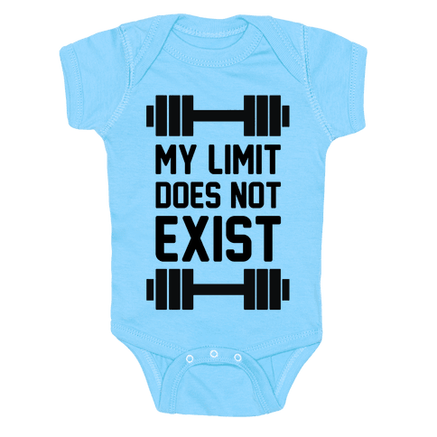 My Limit Does Not Exist Baby Onesy