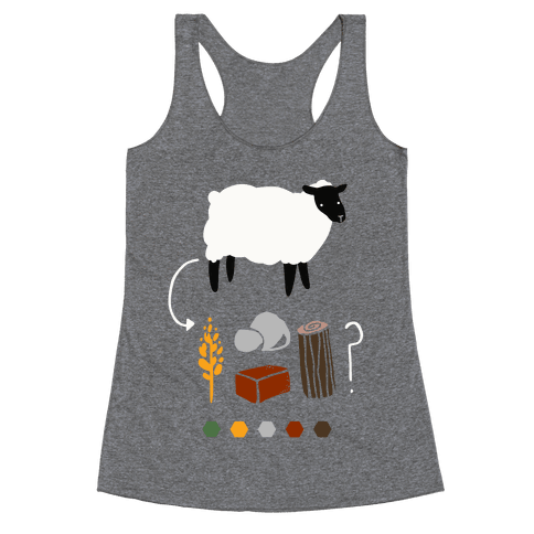Want to Trade for My Sheep? Racerback Tank Top
