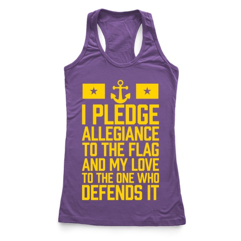 I Pledge Allegiance To The Flag (Navy) Racerback Tank Top