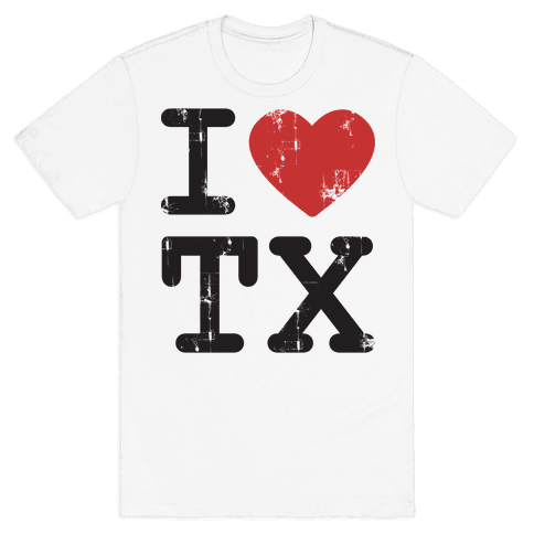 I Love Texas Mens T-Shirt