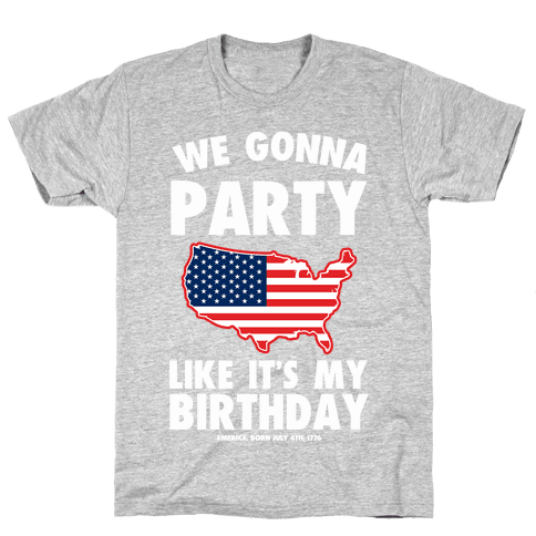 Party Like a Patriot Mens T-Shirt