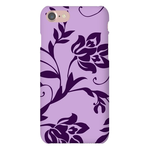 Purple Floral Pattern Phone Case