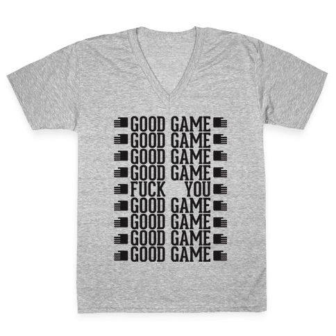 Good Game V-Neck Tee Shirt