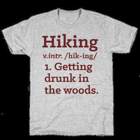 Hiking Definition Mens T-Shirt