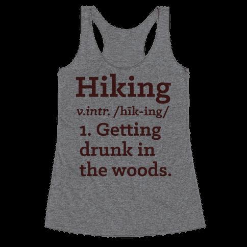 Hiking Definition Racerback Tank Top