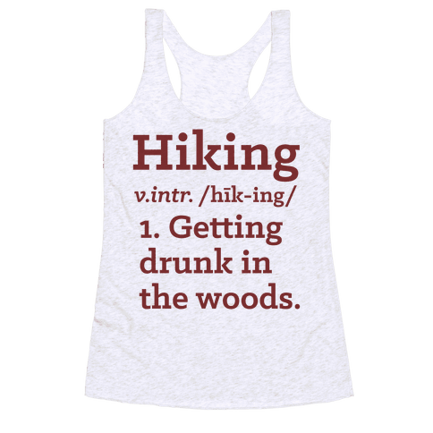 Hiking Definition Racerback Tank Top