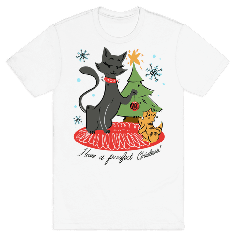 Have a Purrfect Christmas! Mens T-Shirt