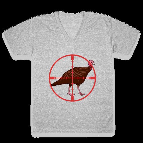 Crosshair Turkey V-Neck Tee Shirt