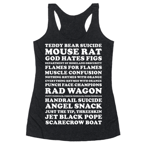 Andy Dwyer Band Names Racerback Tank Top