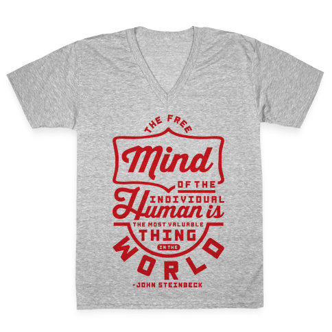 The Most Valuable Thing In The World V-Neck Tee Shirt