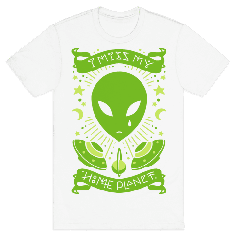 I Miss My Home Planet Mens T-Shirt