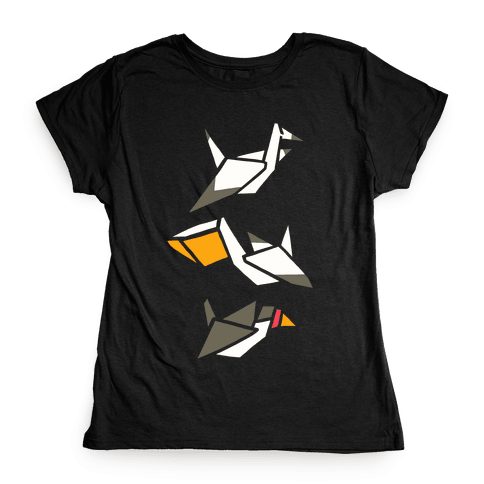 Nautical Origami Seabirds Womens T-Shirt