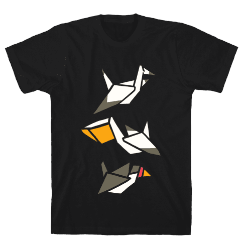 Nautical Origami Seabirds Mens T-Shirt