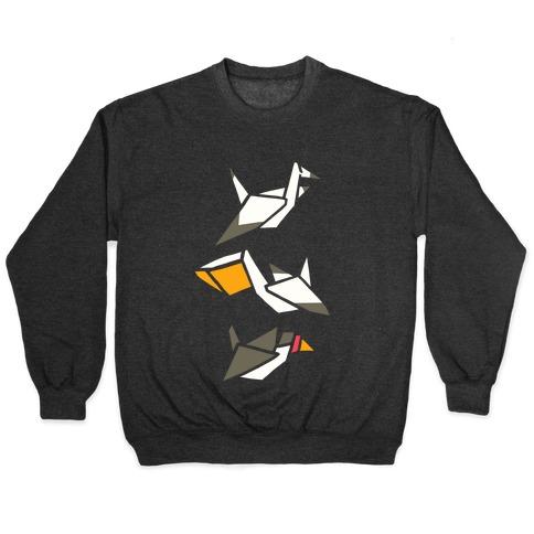 Nautical Origami Seabirds Pullover