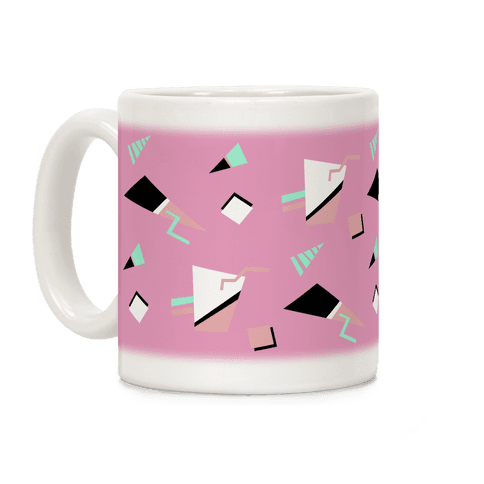 Mauve 80s/90s Pattern Coffee Mug