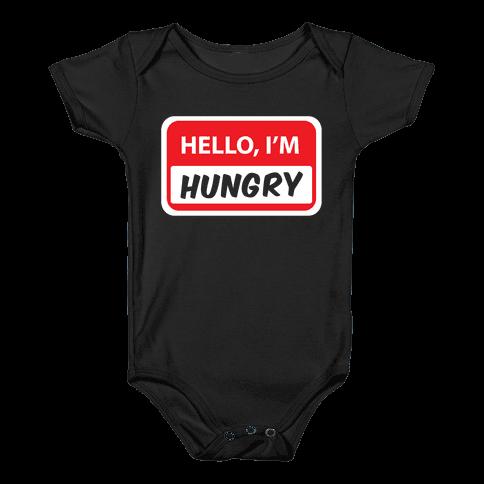 Hello I'm Hungry Baby Onesy